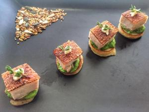 canape pork belly roast dinner